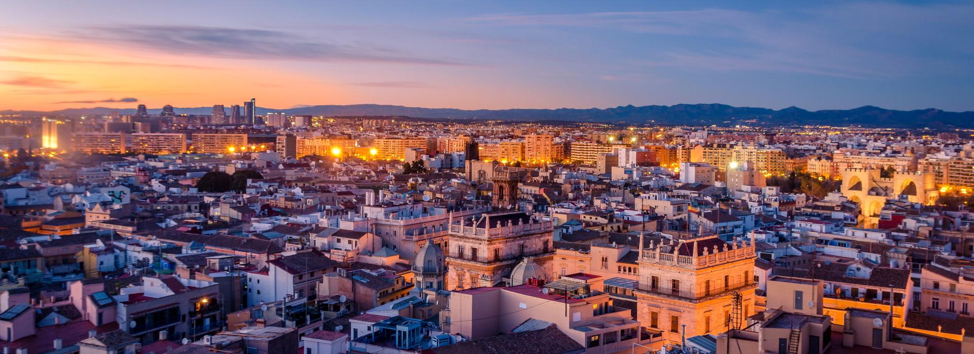 Vistas aéreas de la ciudad de Valencia