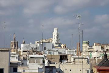 Ático con vistas en el centro de Valencia.